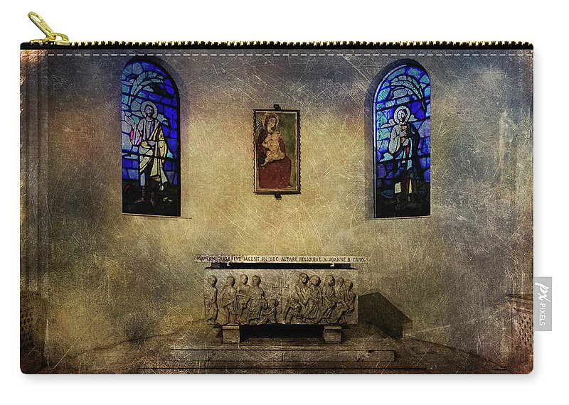Architecture Carry-all Pouch featuring the photograph Holy Grunge by Roberto Pagani