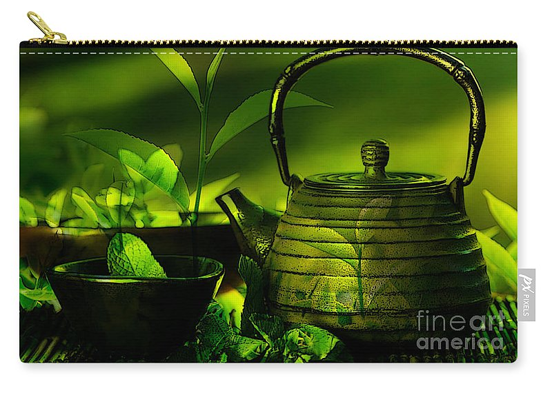 Home Art Carry-all Pouch featuring the mixed media Home Art by Marvin Blaine