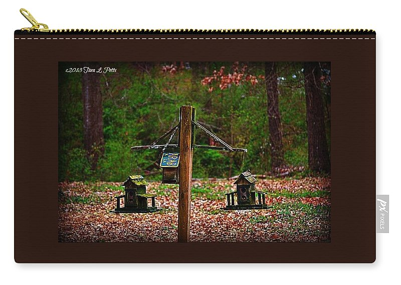Birdhouse Carry-all Pouch featuring the photograph Home Away From Home by Tara Potts