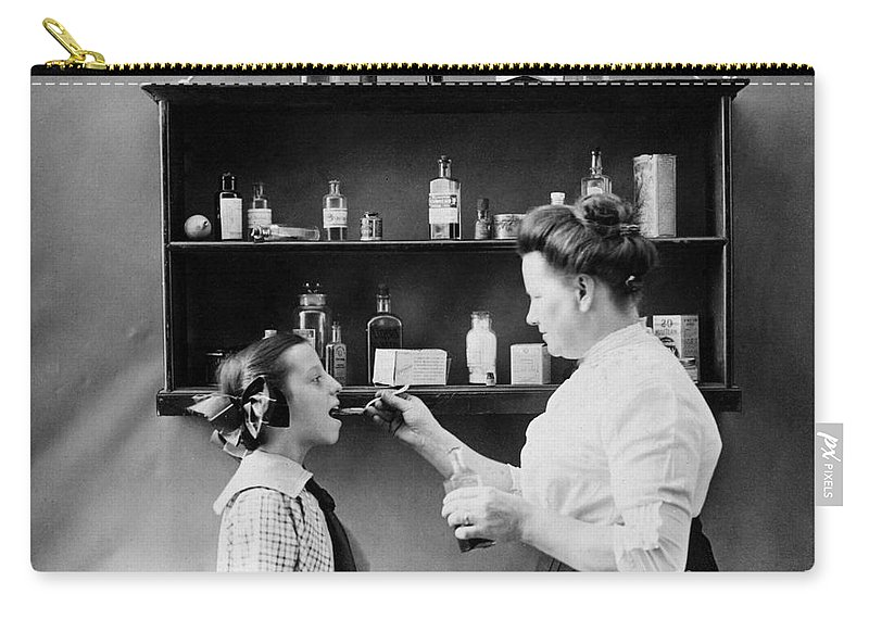 1890s Carry-all Pouch featuring the photograph Home Medicine, C1900 by Granger