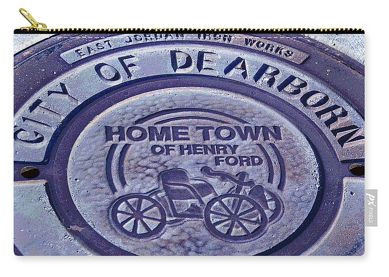 Detroit Michigan Carry-all Pouch featuring the photograph Home Of Henry Ford by Richard Spitler