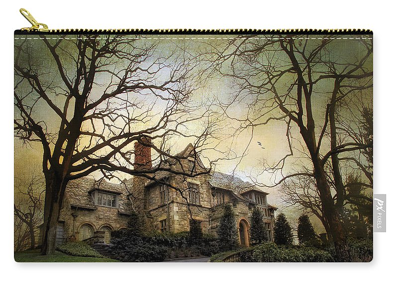 House Carry-all Pouch featuring the photograph Home On A Hill by Jessica Jenney