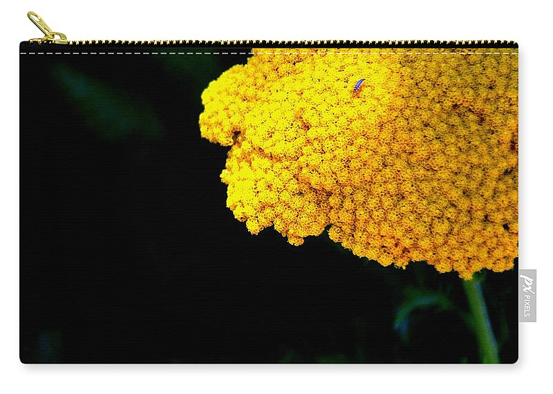 Yellow Carry-all Pouch featuring the photograph Home On The Range 16127 by Jerry Sodorff