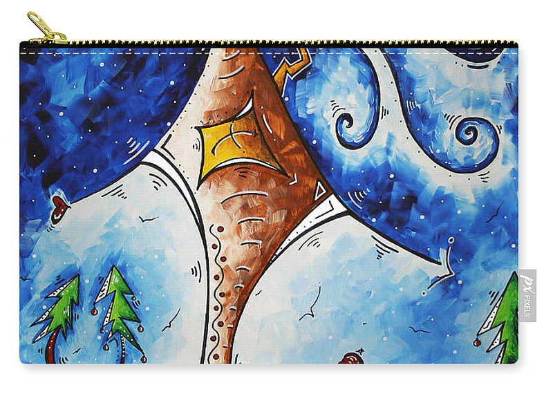 Wall Carry-all Pouch featuring the painting Home Sweet Home by Megan Duncanson