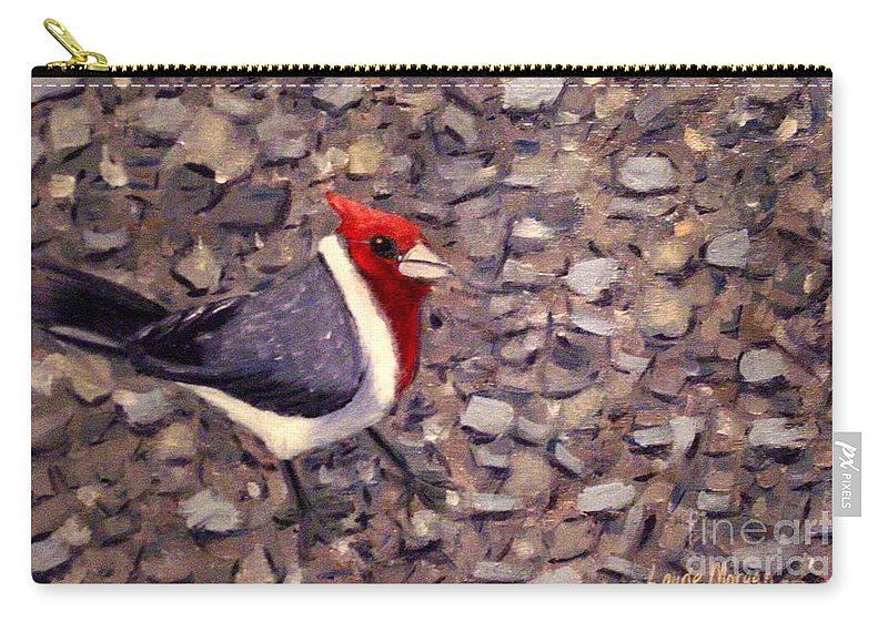 Bird Carry-all Pouch featuring the painting Home Turf by Laurie Morgan