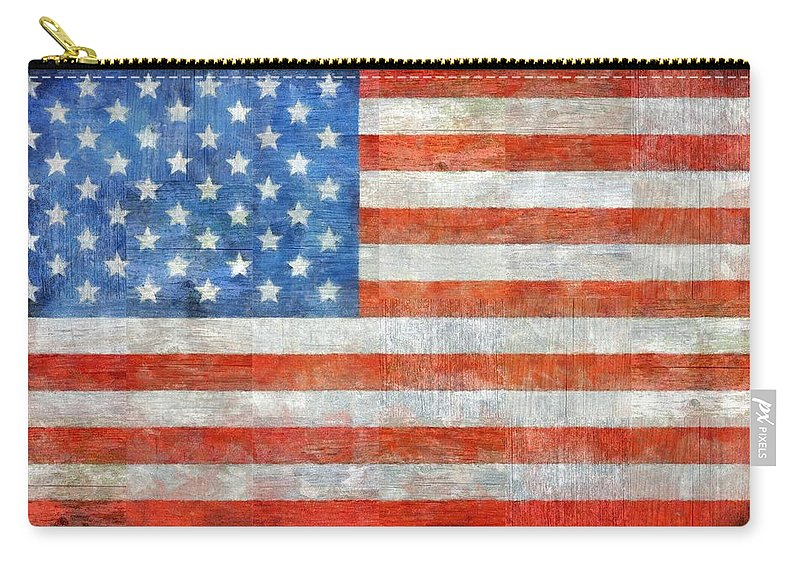 Flag Carry-all Pouch featuring the painting Homeland by Michelle Calkins