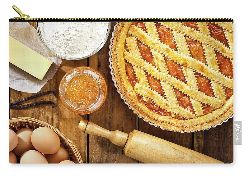 Breakfast Carry-all Pouch featuring the photograph Homemade Italian Crostata With by Fcafotodigital