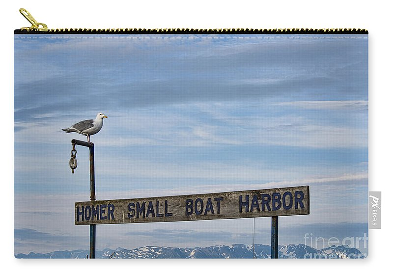 Homer Alaska Carry-all Pouch featuring the photograph Homer by David Arment