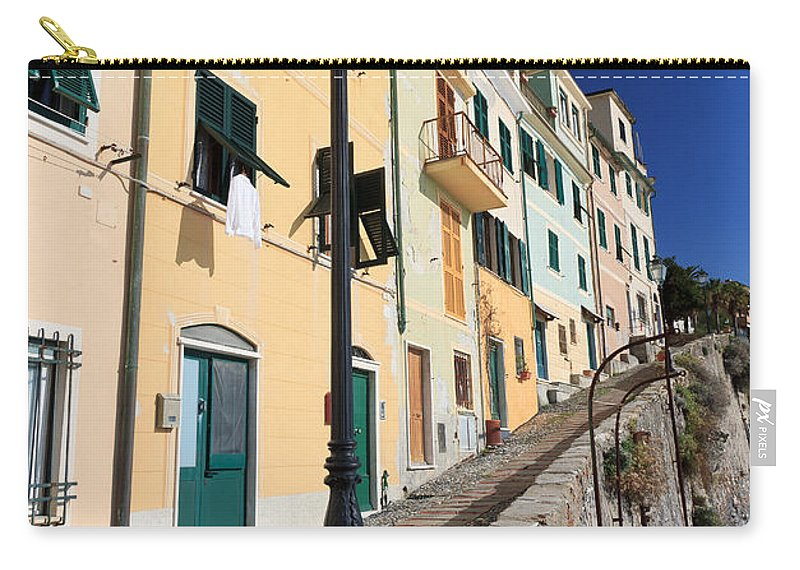 Ancient Carry-all Pouch featuring the photograph Homes In Bogliasco by Antonio Scarpi