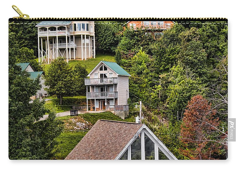 Property Carry-all Pouch featuring the photograph Homes On Mt. Harrison-smoky Mountains Gatlinburg Tennesse by Cindy Tiefenbrunn