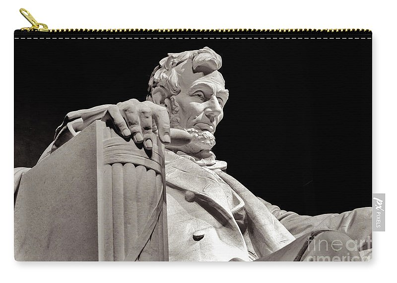 2011 Carry-all Pouch featuring the photograph Honest Abe by Nicholas Pappagallo Jr