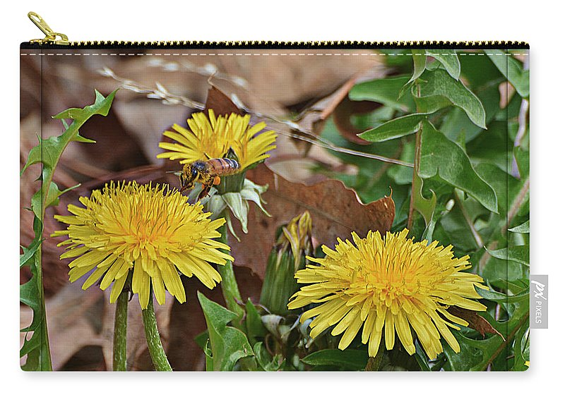 Nature Carry-all Pouch featuring the photograph Honey Bee Glee by Debbie Portwood
