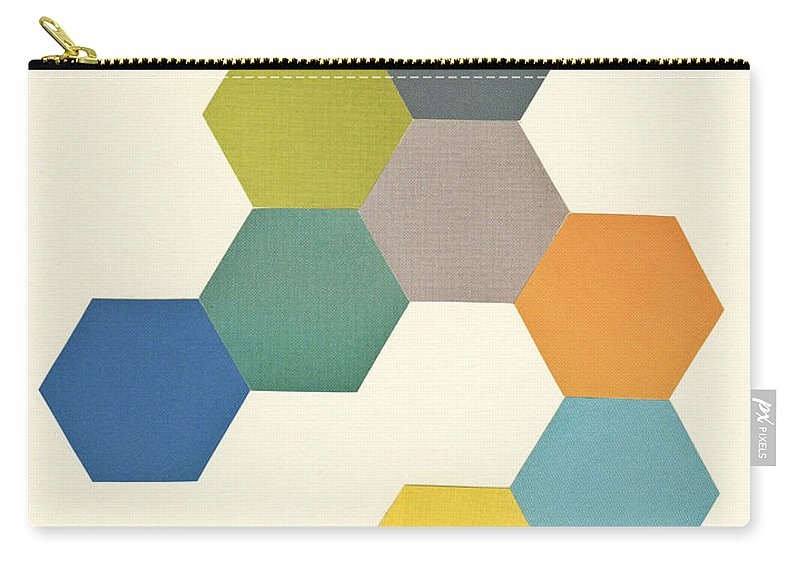 Honeycomb Carry-all Pouch featuring the mixed media Honeycomb I by Cassia Beck