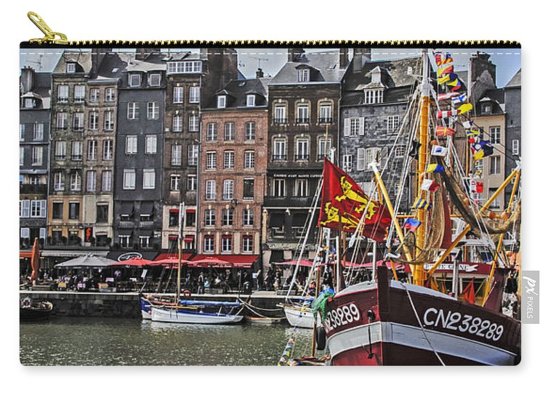 Travel Carry-all Pouch featuring the photograph Honfleur Holiday by Elvis Vaughn