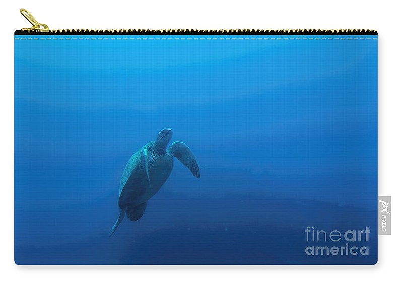 Honu Carry-all Pouch featuring the photograph Honu by Jon Burch Photography