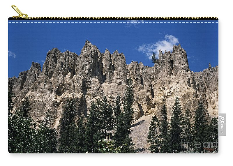 Sand Stone Carry-all Pouch featuring the photograph Hoo Doo's Bc Canada by Sharon Elliott