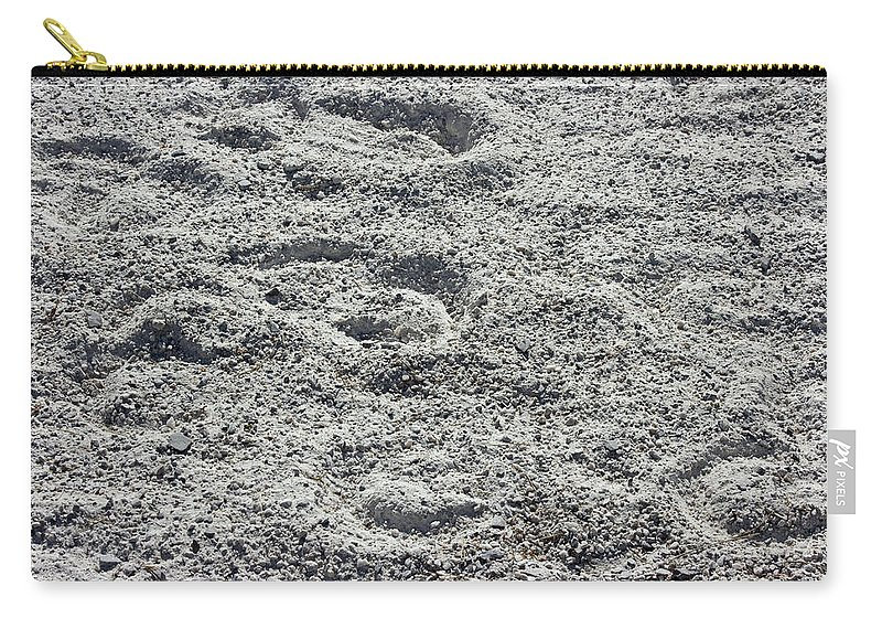 Hoof Prints Carry-all Pouch featuring the photograph Hoof Prints In Sand by Donna Haggerty