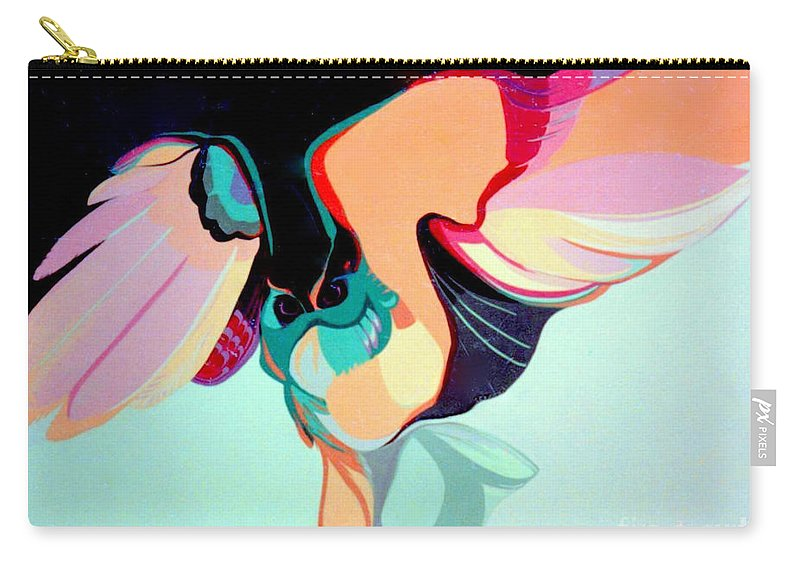Bird Carry-all Pouch featuring the painting Hooters by Marlene Burns