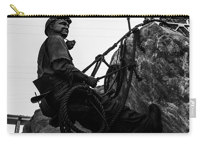 Nevada Carry-all Pouch featuring the photograph Hoover Dam Climber by Angus Hooper Iii