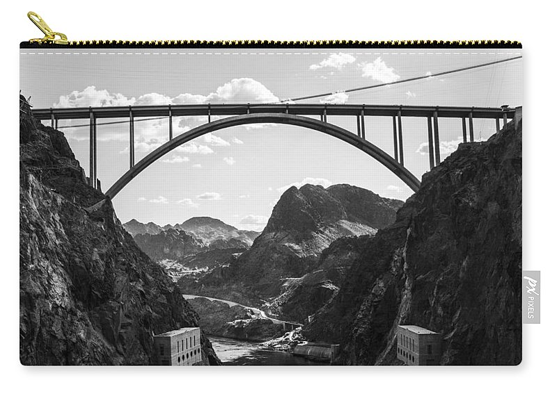 Nevada Carry-all Pouch featuring the photograph Hoover Dam Memorial Bridge by Angus Hooper Iii