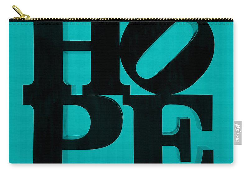 Hope Carry-all Pouch featuring the photograph Hope In Light Blue by Rob Hans