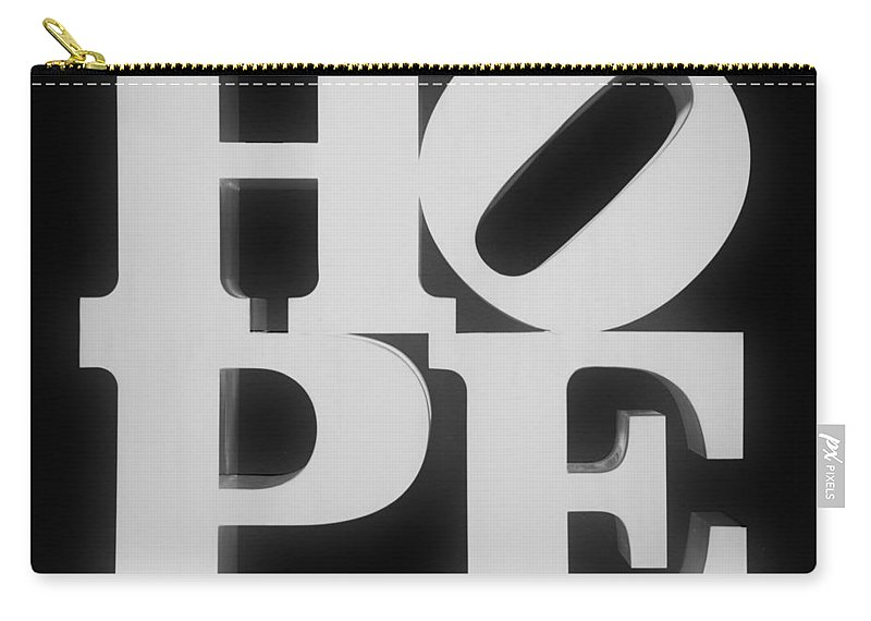 Hope Carry-all Pouch featuring the photograph Hope Inverted Black by Rob Hans
