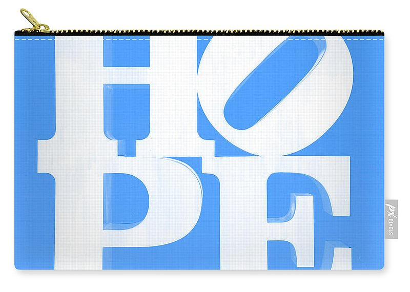 Hope Carry-all Pouch featuring the photograph Hope Inverted Light Blue by Rob Hans