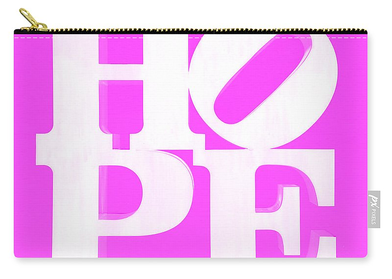 Hope Carry-all Pouch featuring the photograph Hope Inverted Pink by Rob Hans
