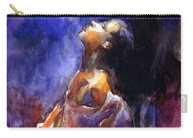 Watercolor Portrait Painting Carry-all Pouch featuring the painting 'hope' Woman Portrait by Svetlana Novikova