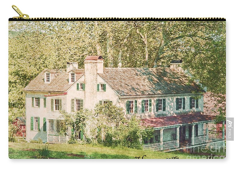 Hopewell Carry-all Pouch featuring the photograph Hopewell Furnace In Pennsylvania by Olivier Le Queinec