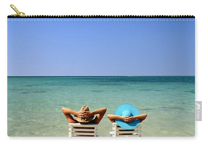 Young Carry-all Pouch featuring the photograph Horizon Blues by Edmund Nagele