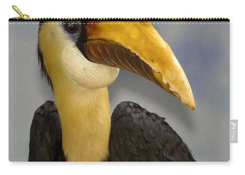 Beak Carry-all Pouch featuring the photograph Hornbill 2 by Ingrid Smith-Johnsen