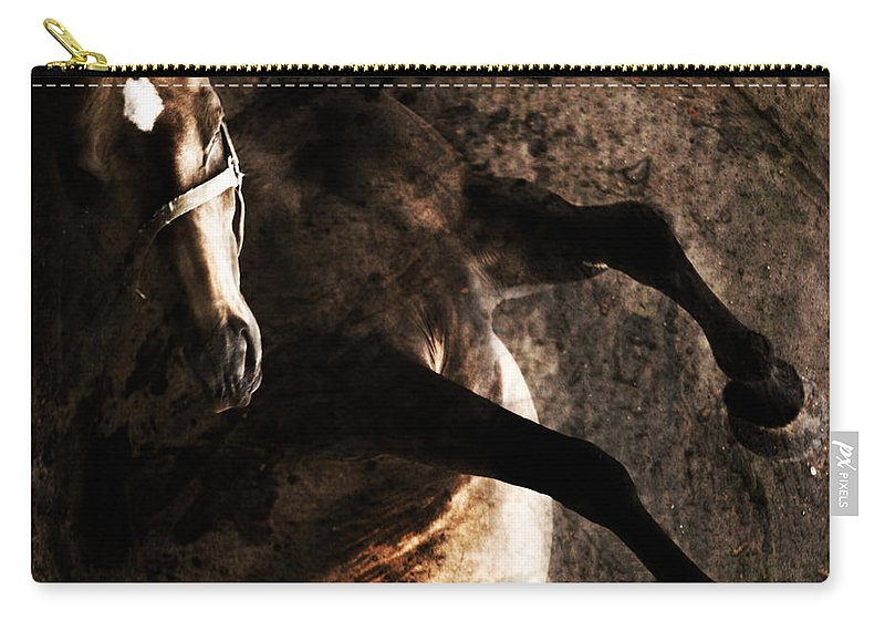 Horse Carry-all Pouch featuring the photograph Horse Art by Angel Ciesniarska