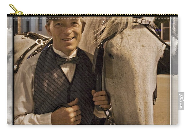 Carriage Carry-all Pouch featuring the photograph Horse Carriage Driver 3 by Walter Herrit