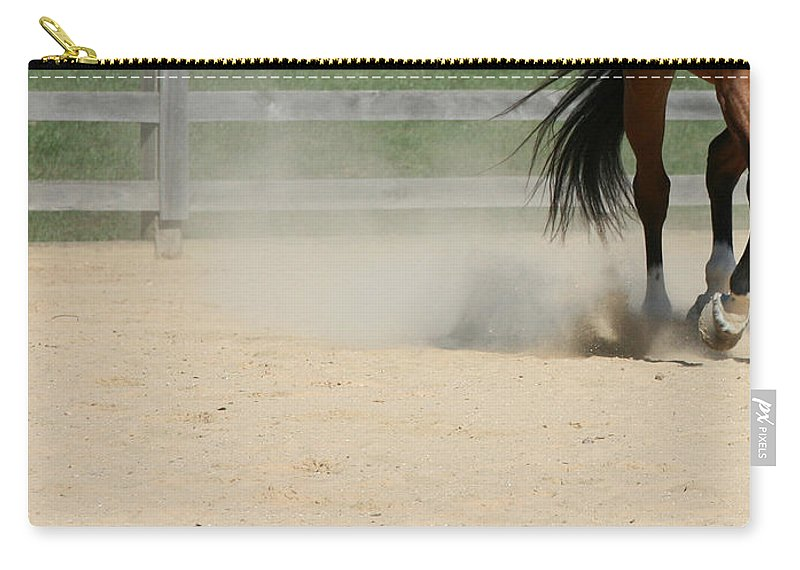 Horse Carry-all Pouch featuring the photograph Horse In Motion by Donna Haggerty