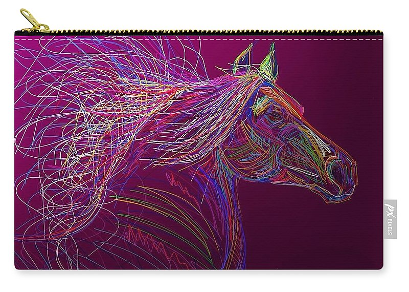 Horse Carry-all Pouch featuring the painting Horse Of Fire by Marie Clark