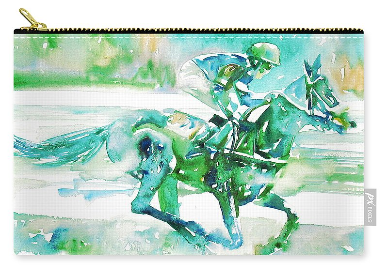 Horse Carry-all Pouch featuring the painting Horse Painting.18 by Fabrizio Cassetta