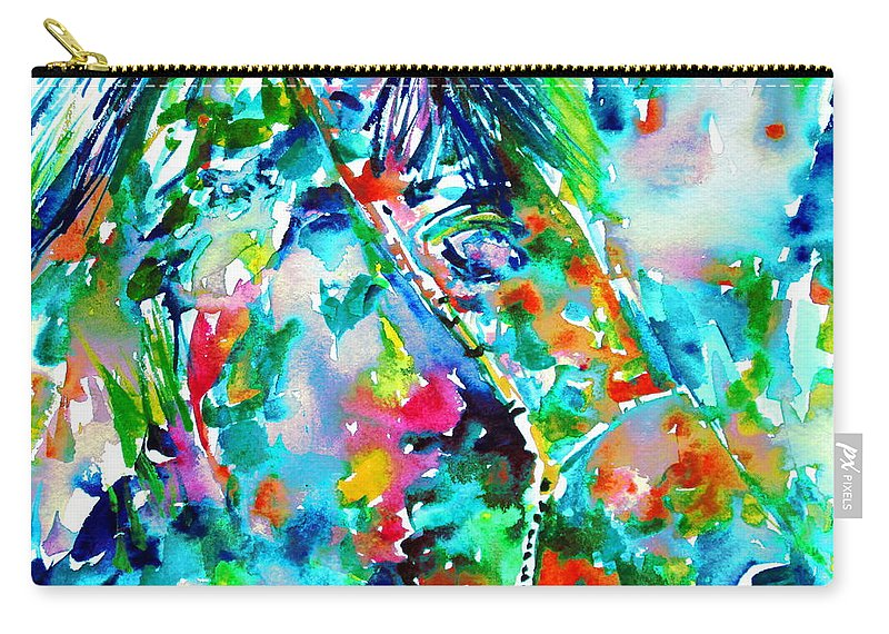 Horse Carry-all Pouch featuring the painting Horse Painting.30 by Fabrizio Cassetta