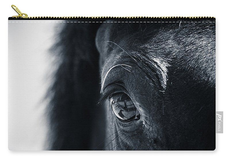 Horse Carry-all Pouch featuring the photograph Horse Reflection by Michele Wright