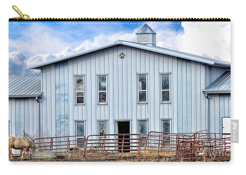 Horse Stable Carry-all Pouch featuring the photograph Horse Stable by Liane Wright