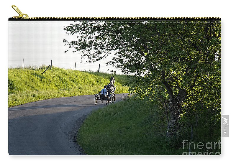 Amish Carry-all Pouch featuring the photograph Horse Training by David Arment