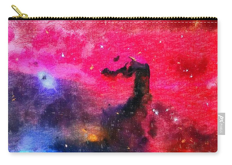 Horsehead Nebula Carry-all Pouch featuring the painting Horsehead Nebula by Dan Sproul
