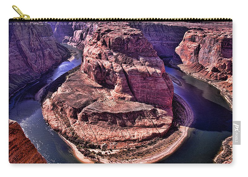 Horseshoe Bend Carry-all Pouch featuring the photograph Horsehoe Bend On The Colorado River by Jon Berghoff