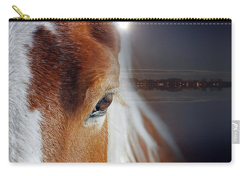Horse Carry-all Pouch featuring the photograph Horses by Mark Ashkenazi