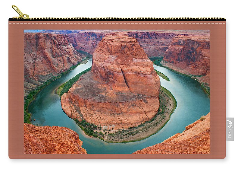 Carry-all Pouch featuring the photograph Horseshoe Bend Arizona by Reed Rahn