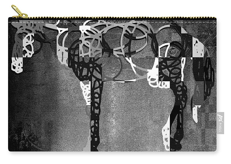 Horse Carry-all Pouch featuring the digital art Horso - Bw01tx01 by Variance Collections