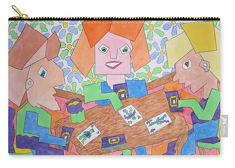 Cards Carry-all Pouch featuring the painting Hospitality by Barb Meade