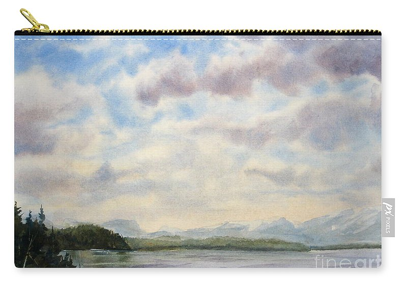 Background Carry-all Pouch featuring the painting Hot Day In The Rockies by Mohamed Hirji