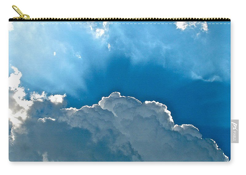 Cloud Carry-all Pouch featuring the photograph Hot Italian Clouds by Lexi Heft
