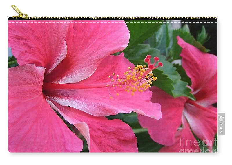 Pink Carry-all Pouch featuring the photograph Hot Pink Hibiscus 2 by Mary Deal